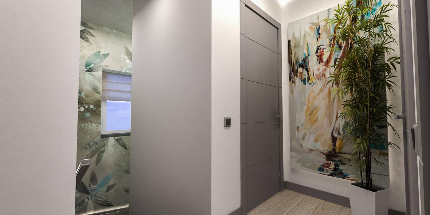corridoio zona notte: Ingresso & Corridoio in stile  di studiosagitair