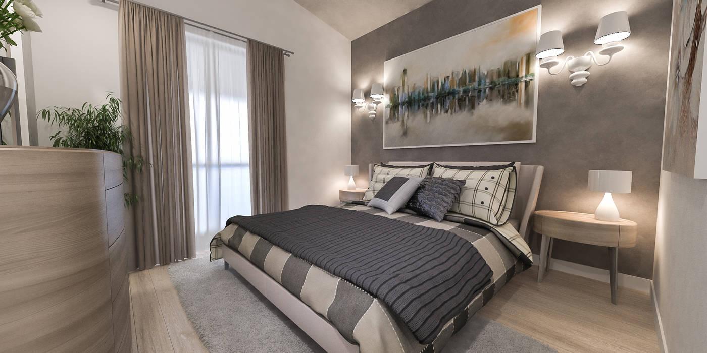 camera padronale: Camera da letto in stile  di studiosagitair