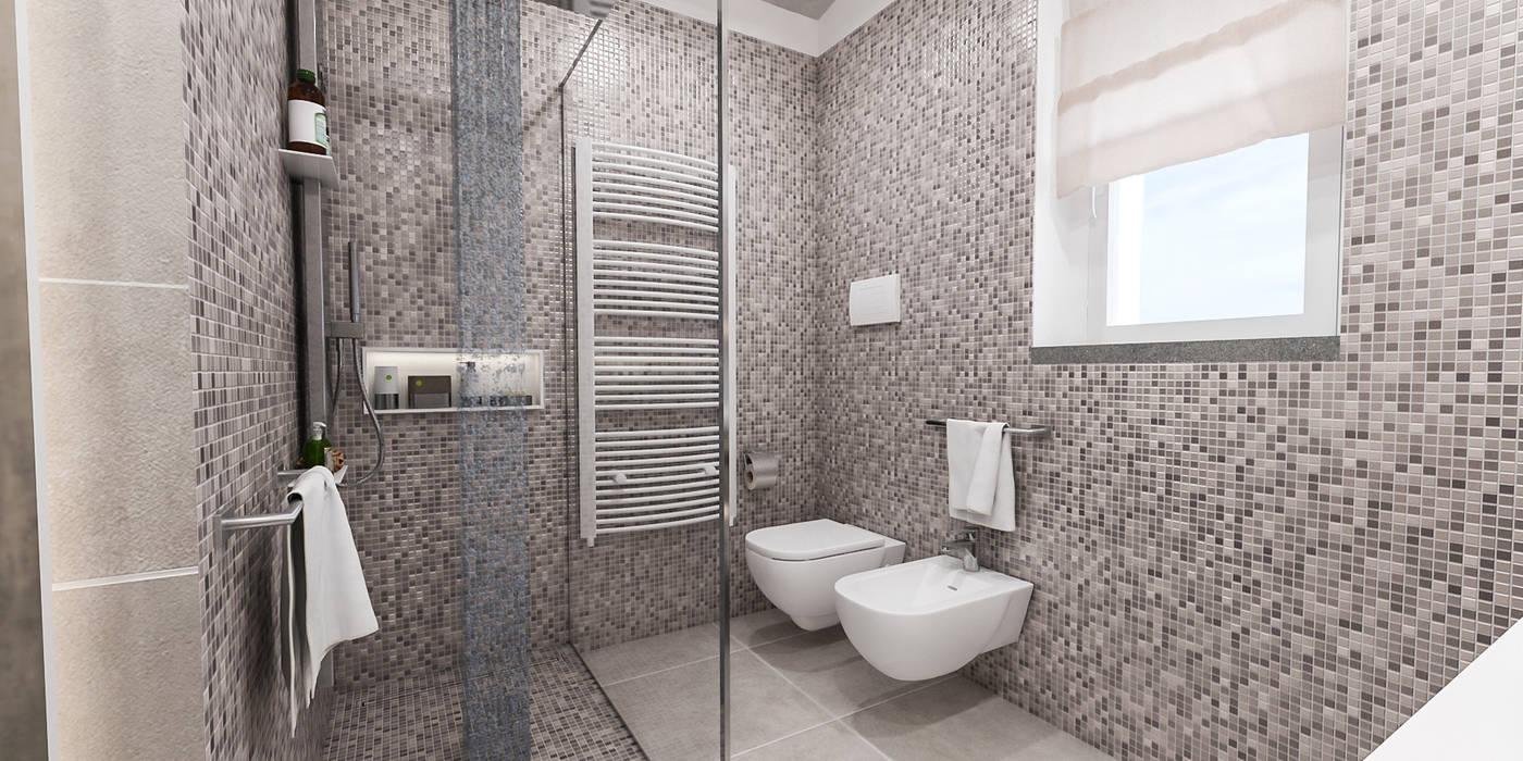 bagno principale: Bagno in stile in stile Moderno di studiosagitair