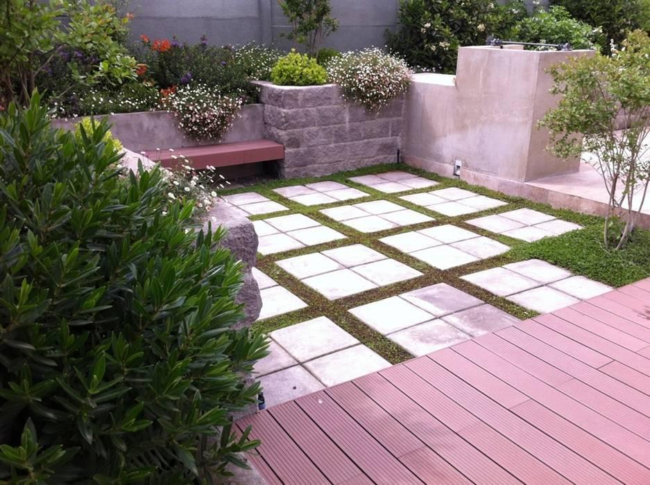 Proyecto de Paisajismo Familia Ruiz : Jardines de estilo  por Aliwen Paisajismo, Moderno