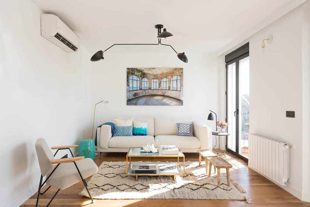 CABALLERO Fotografía de Arquitectura, Inmobiliaria e Interiorismo Phòng khách phong cách Bắc Âu