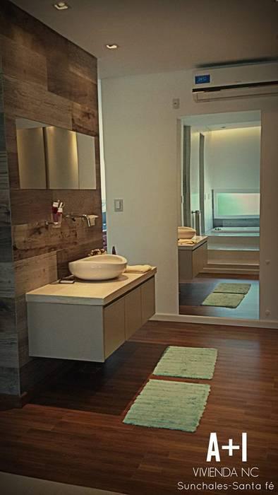 Ante baño y Vestidor : Baños de estilo  por Estudio A+I