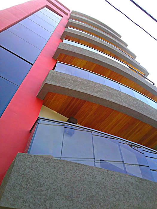 Fachada Edificio de Estudio A+I Moderno
