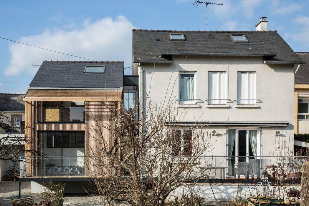maison individuelle - projet d'extension: Maison individuelle de style  par FRED PIEAU PHOTOGRAPHE