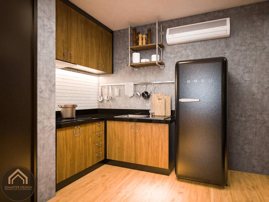 รีโนเวท  JW Condo:  ห้องทานข้าว โดย Diameter Design ,