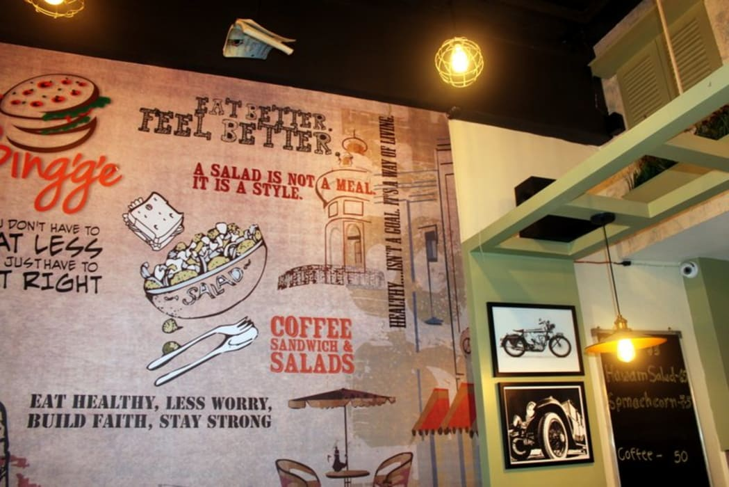 Cafe Project - Just Bing'ge - A Budget Cafe: eclectic  by Dezinebox,Eclectic