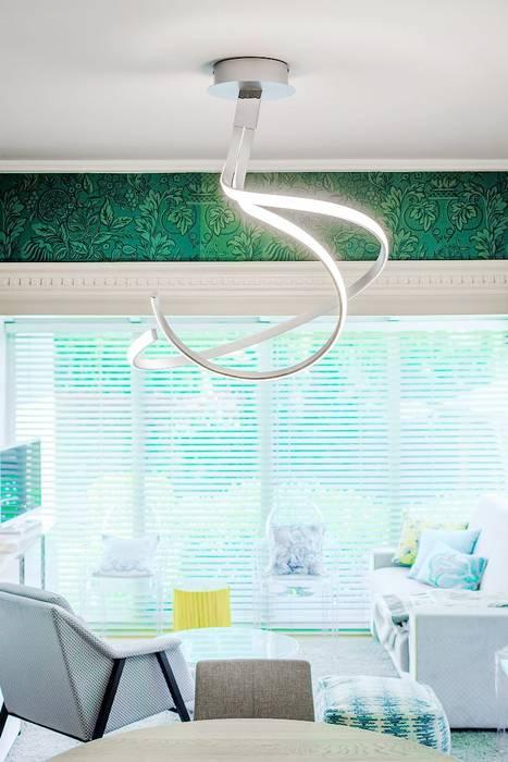 Habitaka diseño y decoración Salon méditerranéen Blanc