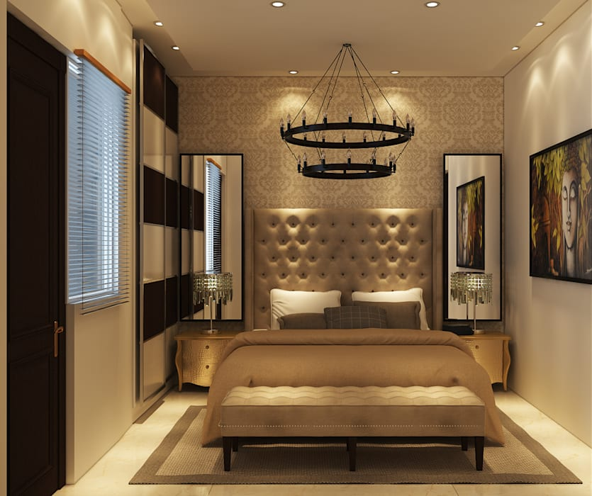 RESIDENCE SINGLE FAMILY PROJECT BY MAD DESIGN:  Bedroom by MAD DESIGN