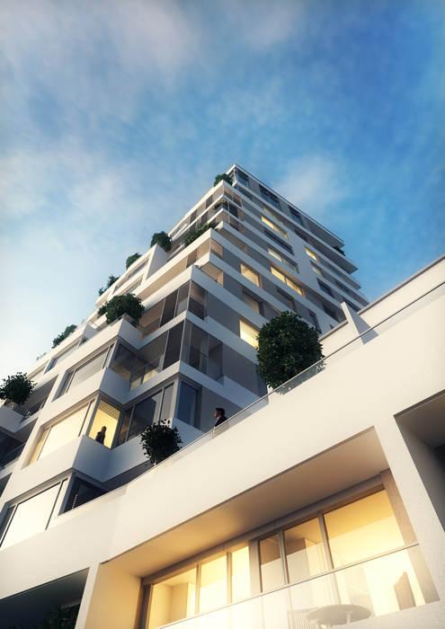Wohnen im Ausnahmeobjekt PRAEDIUM in Frankfurt: industriale Häuser von JLL Residential Development