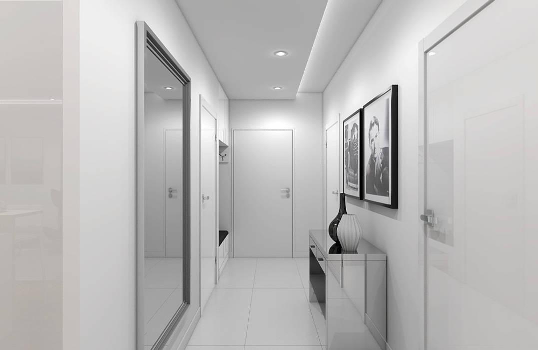 Nieoczywisty glamour klasyczny korytarz, przedpokój i schody od ...