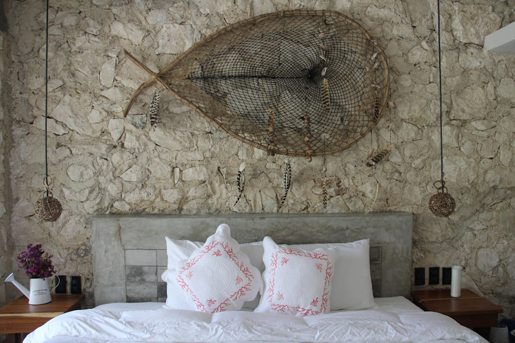 Villa Cherie Dormitorios rústicos de CO-TA ARQUITECTURA Rústico