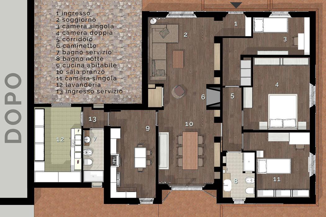 Arredamento Moderno Chic : Arredamento country chic moderno in villetta toscana in stile di