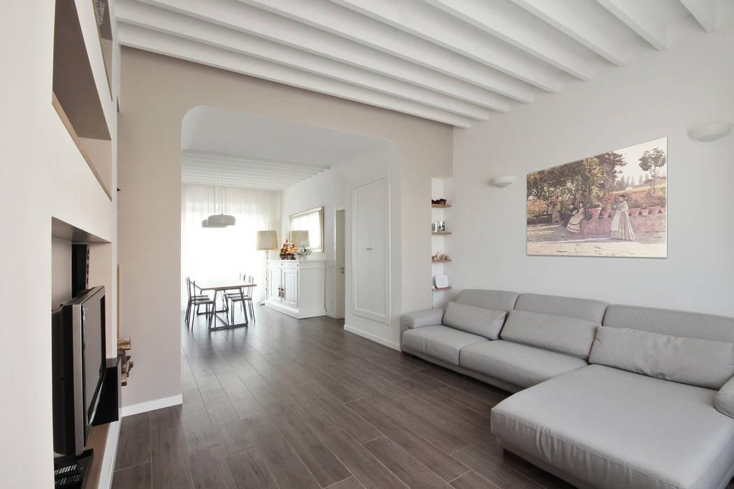 Casa country chic : soggiorno in stile di jfd - juri favilli design ...