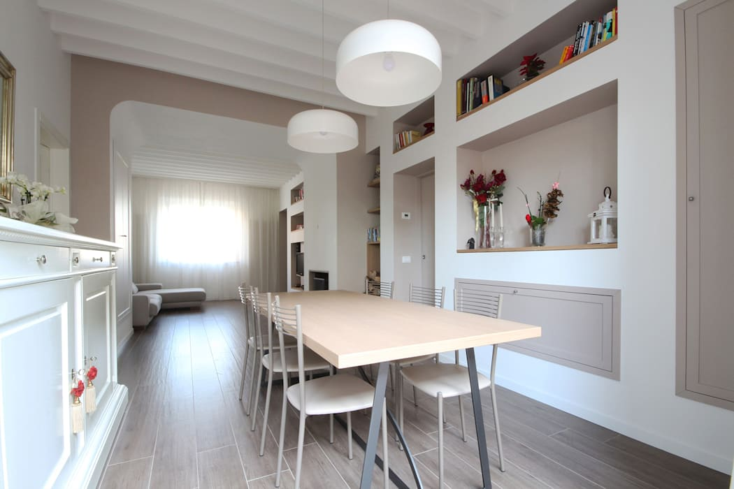 Sala da pranzo country moderno: sala da pranzo in stile in stile ...