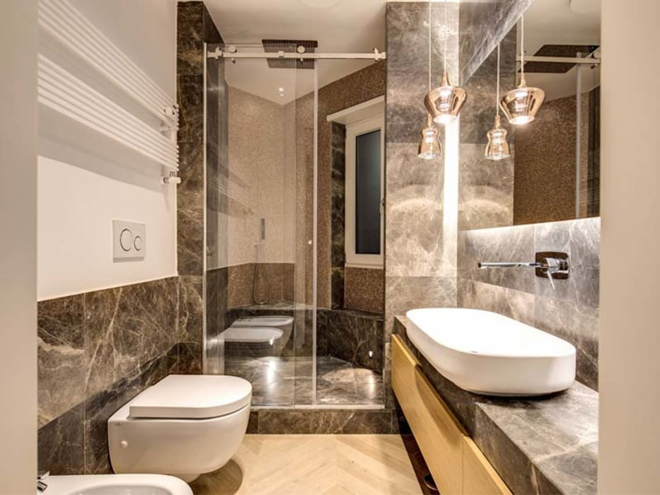 Baños de estilo moderno de MOB ARCHITECTS Moderno