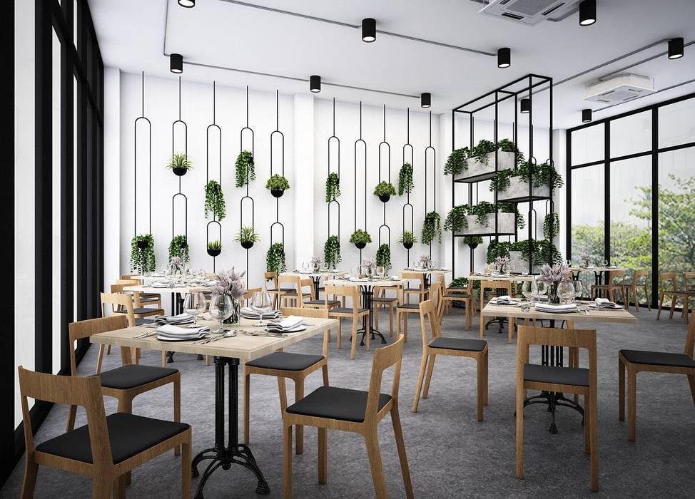 :  ห้องทานข้าว โดย Zero field design studio, อินดัสเตรียล