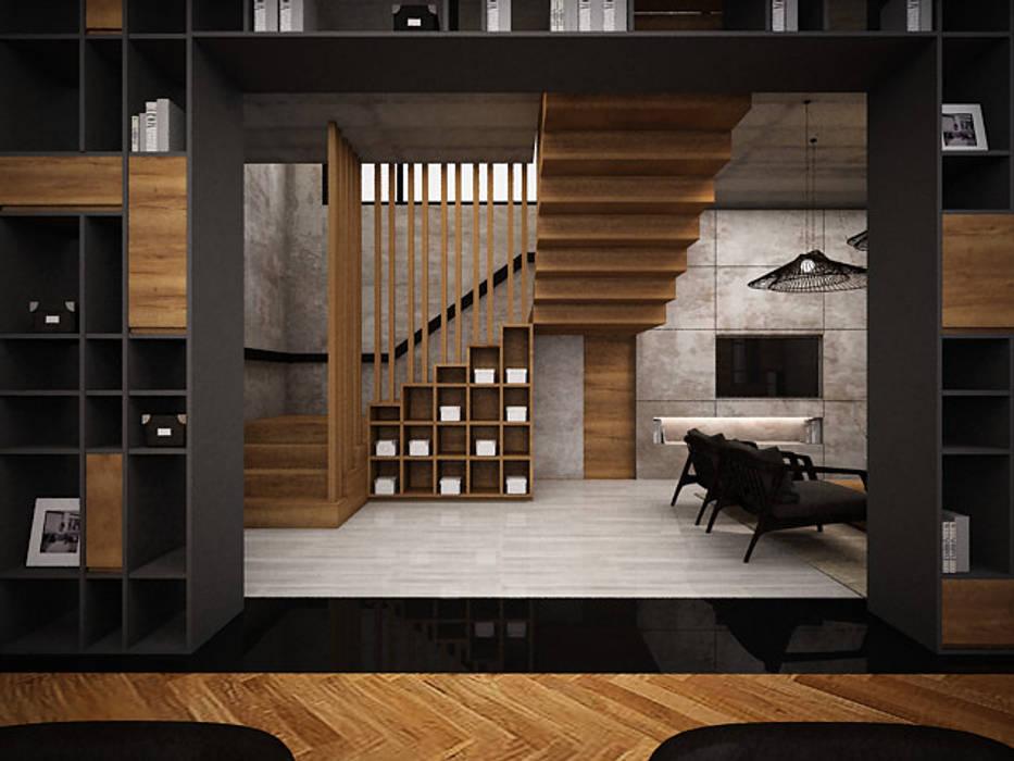 ทางเดินในสไตล์อุตสาหกรรมห้องโถงและบันได โดย Zero field design studio อินดัสเตรียล
