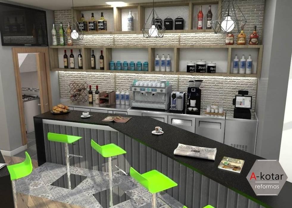 Diseño de reforma de Bar en A Coruña Bodegas de estilo moderno de A-kotar Moderno