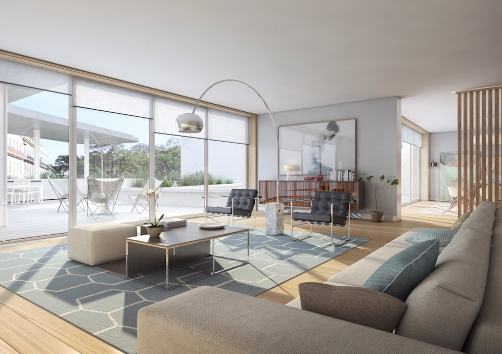 Santos Design - Stone Capital Onstudio Lda Salas de estar modernas