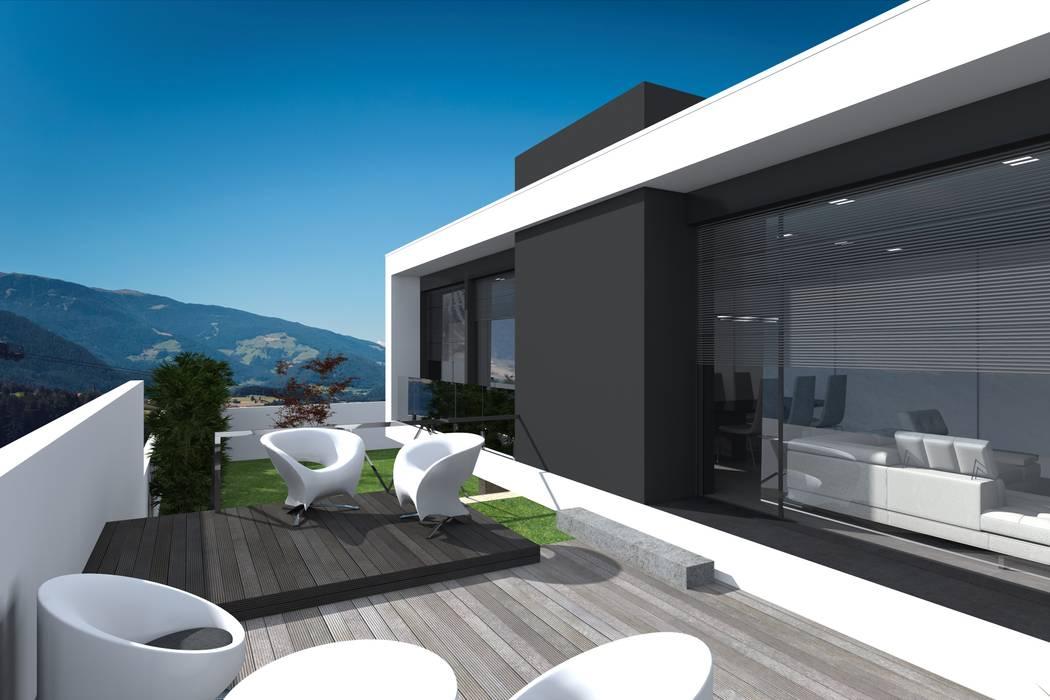 Alçado lateral esquerdo Magnific Home Lda Casas modernas