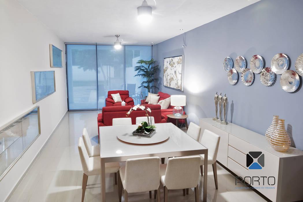 Comedores de estilo moderno de PORTO Arquitectura + Diseño de Interiores Moderno