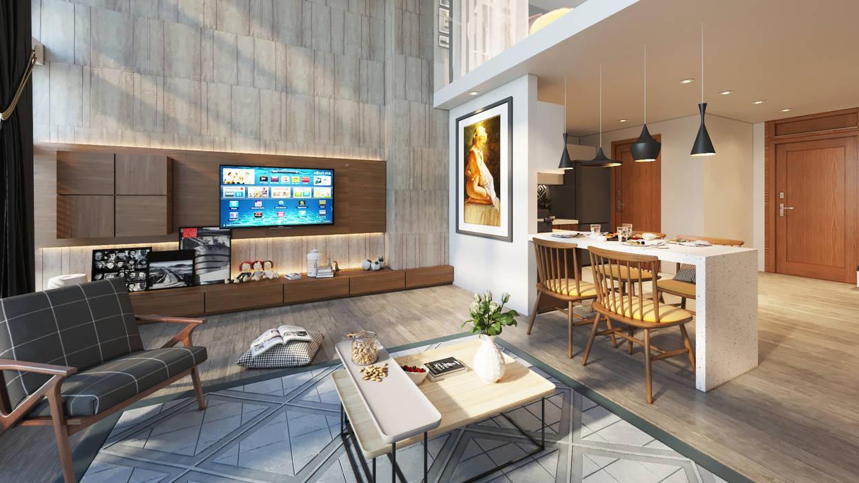 Modern living room by AT Design Modern