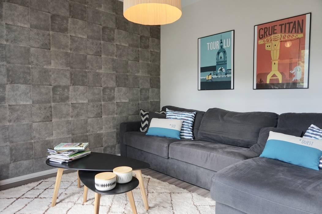 salon Tv cosy: Salon de style  par Backhome