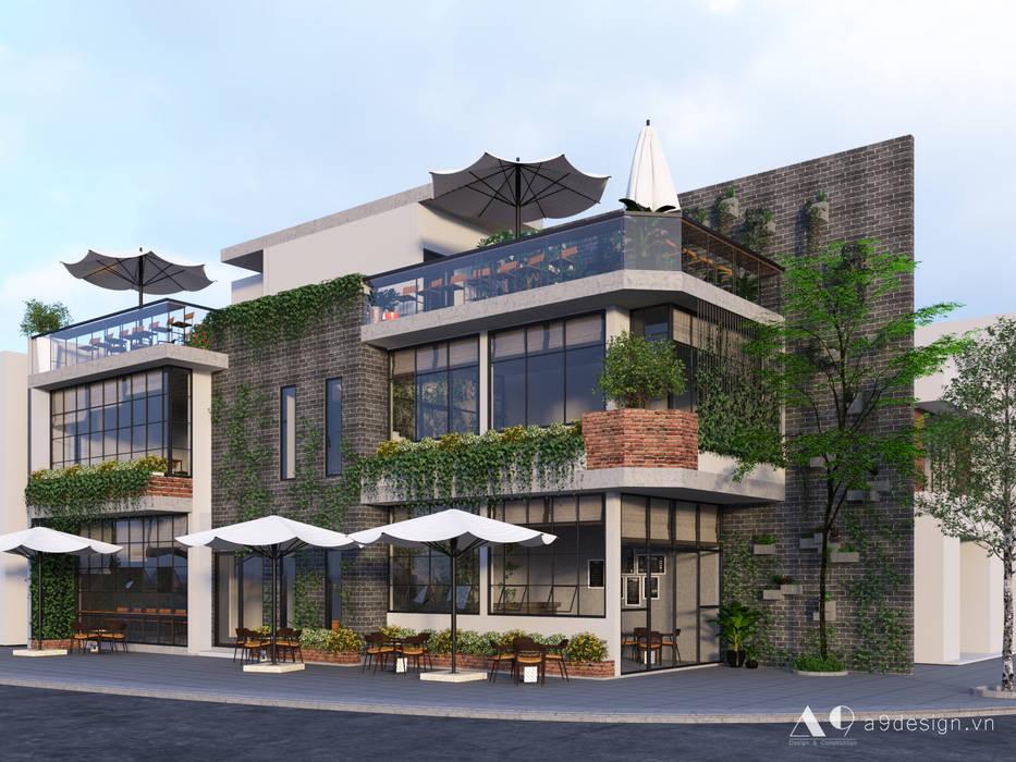 Fashion coffee:  Nhà by Công Ty Cp Thiết Kế Kiến Trúc Và Xây Dựng A9 Design