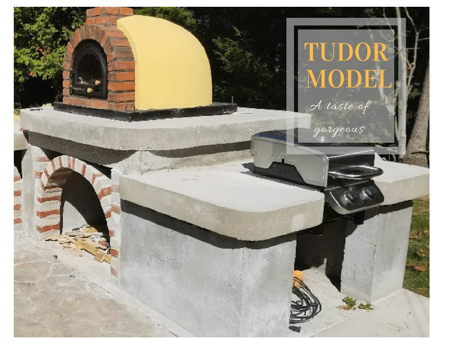 Wood-fired European pizza oven - OUTDOOR KITCHEN:  Patios by Dome Ovens™
