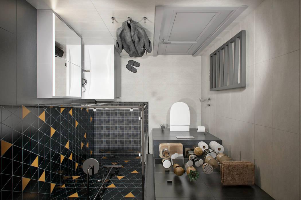 Квартира 60 кв.м. в современном стиле ЖК Ясный: Ванные комнаты в . Автор – Студия архитектуры и дизайна Дарьи Ельниковой