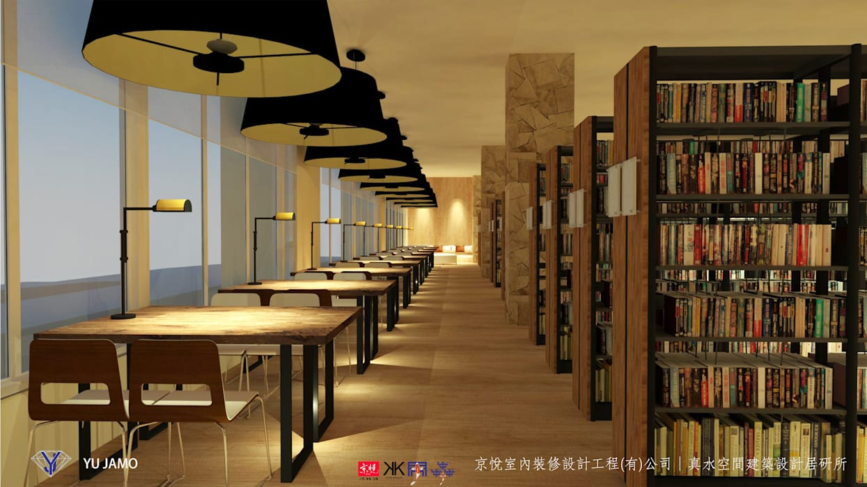 Living room by 京悅室內裝修設計工程(有)公司|真水空間建築設計居研所