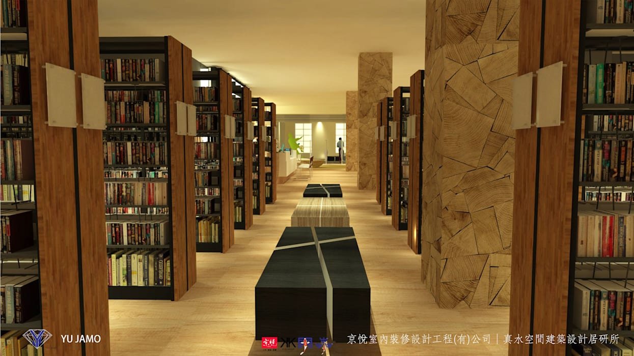 NTUS Library大學圖書館設計案 - 京悅設計:  餐廳 by 京悅室內裝修設計工程(有)公司|真水空間建築設計居研所