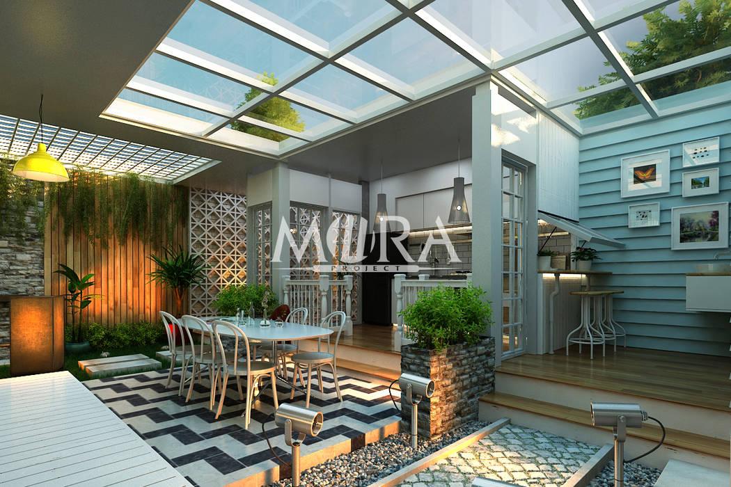 Muebles de cocinas de estilo  por Maxima Studio Medan Interior Design & Arsitek,