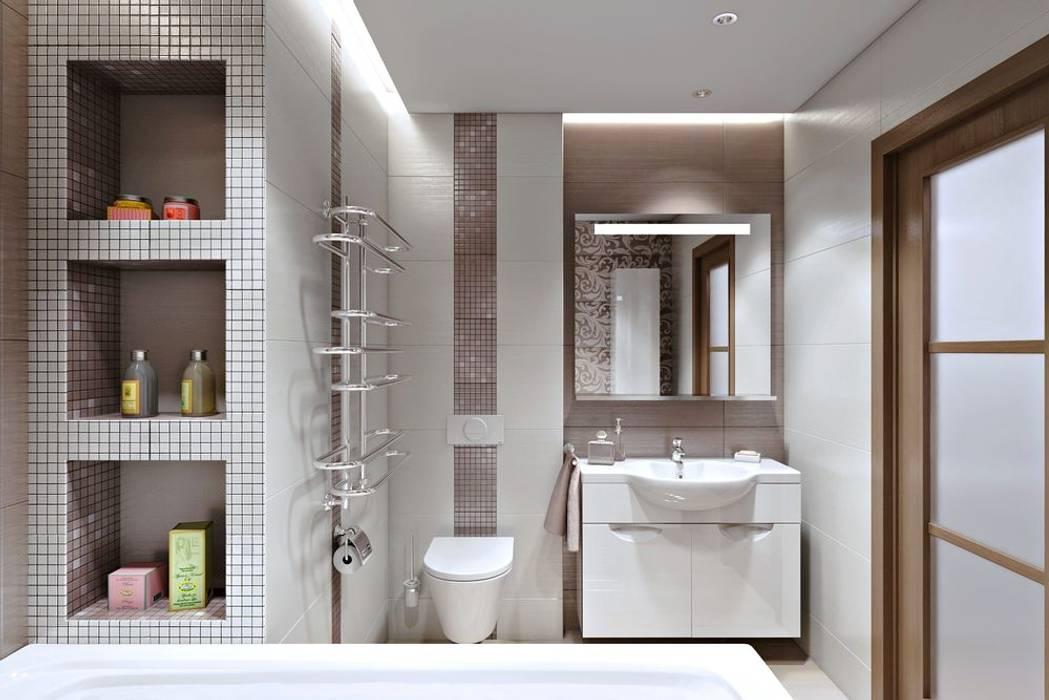 РАДУГА ЭМОЦИЙ: Ванные комнаты в . Автор – Дизайн студия Алёны Чекалиной