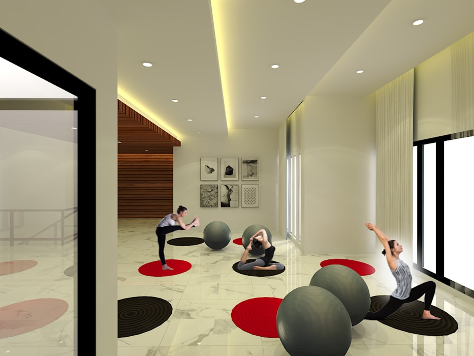 Fitness Room :  Ruang Fitness by SEKALA Studio
