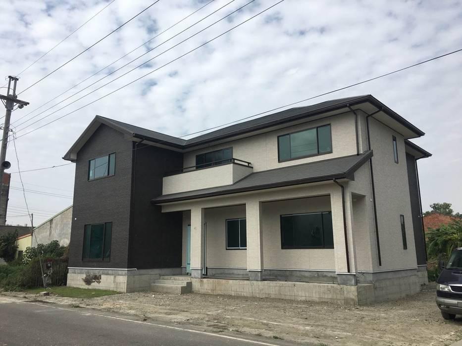 2X4框組壁工法住宅:  房子 by 台日國際住宅股份有限公司,