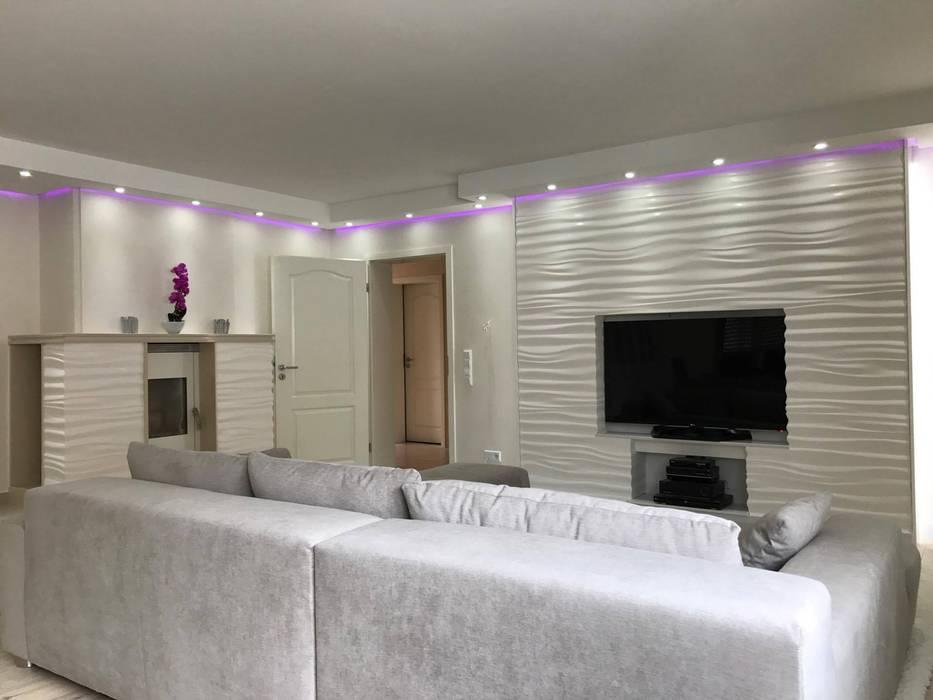 Salon de style par loft design system deutschland - wandpaneele aus ...