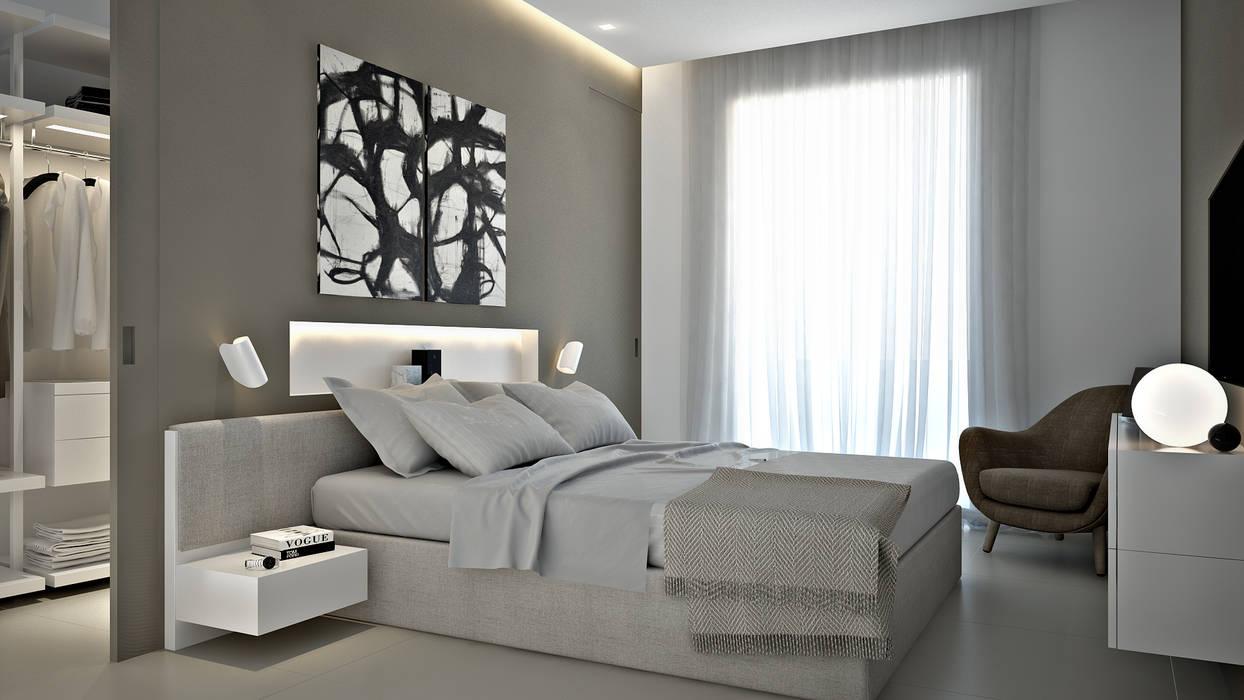 Bedroom: Camera da letto in stile  di olivia Sciuto, Moderno