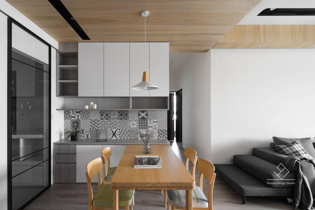 餐廳設計:  餐廳 by 極簡室內設計 Simple Design Studio