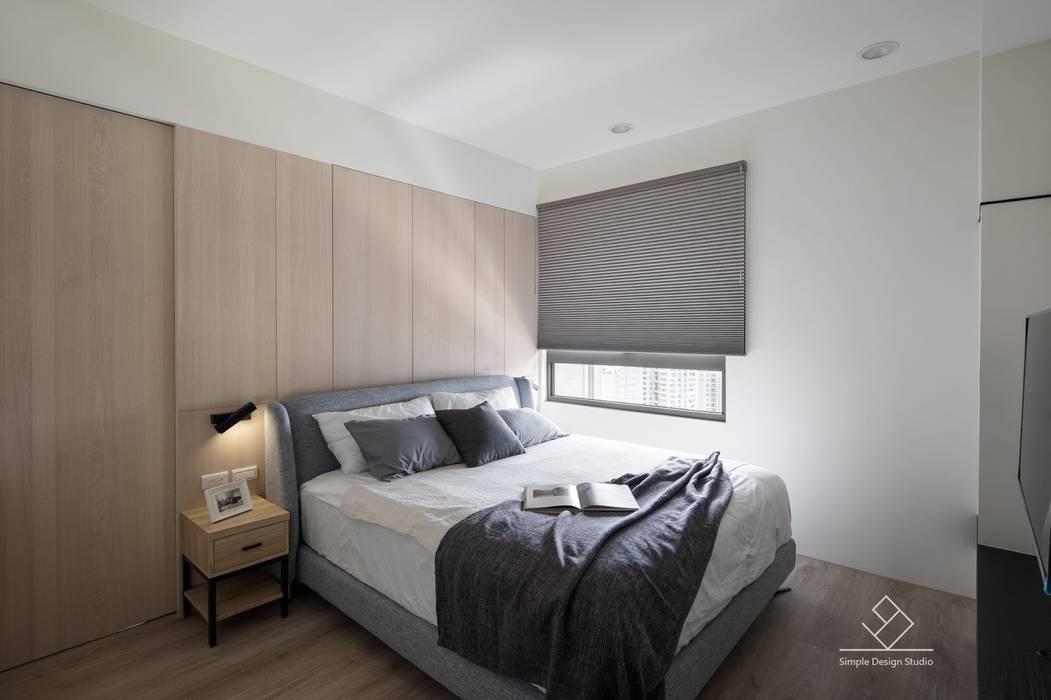 主臥室設計:  臥室 by 極簡室內設計 Simple Design Studio, 北歐風