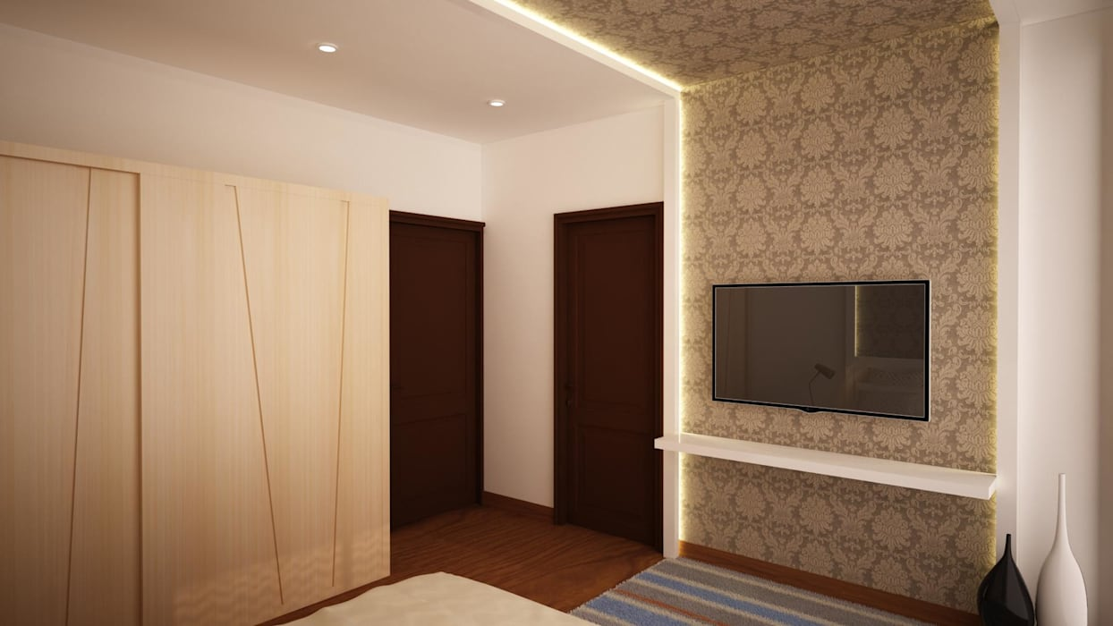Wallpaper And Cove Lighting Media Room By Nvt Quality Build Solution