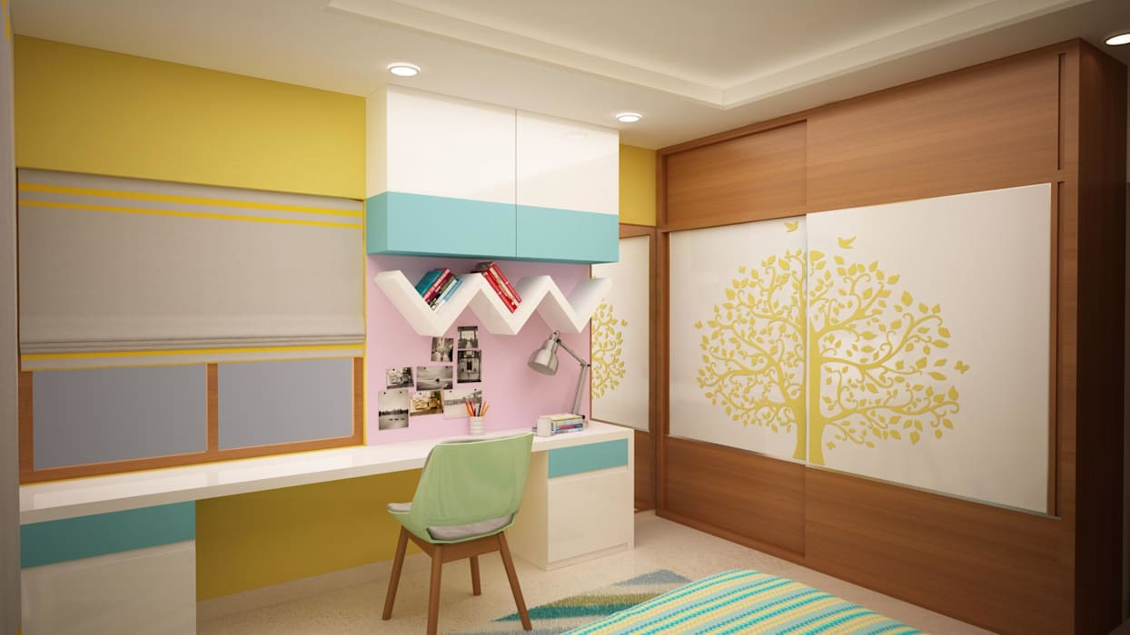 Kids room study table Asian style nursery/kids room by homify Asian