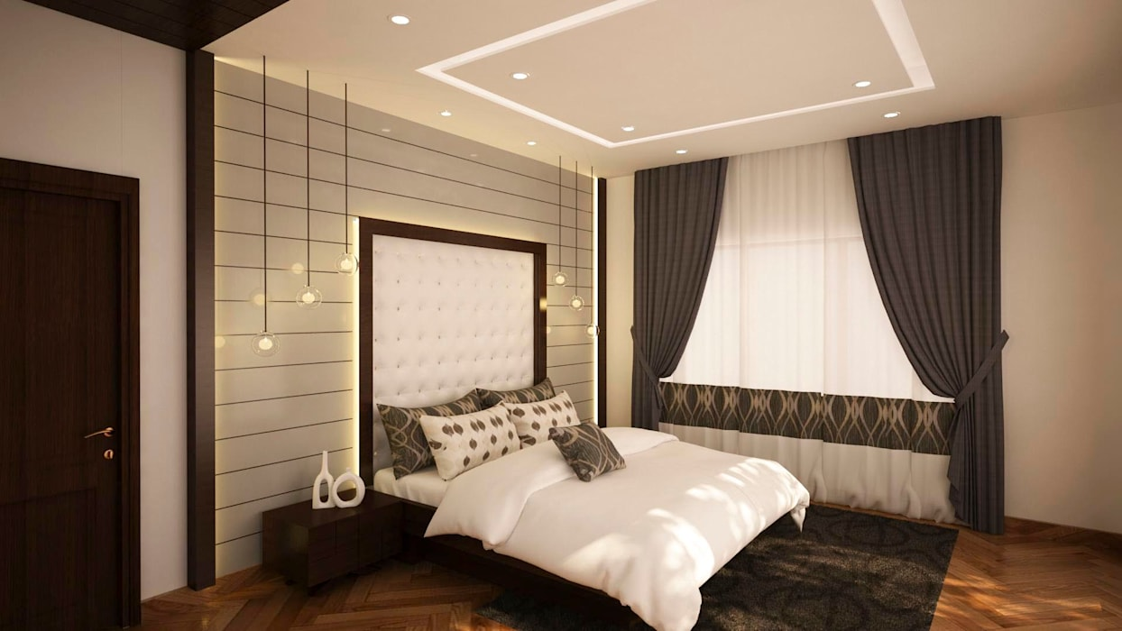 Master Bedroom with hidden lighting : asian Bedroom by NVT Quality Build solution