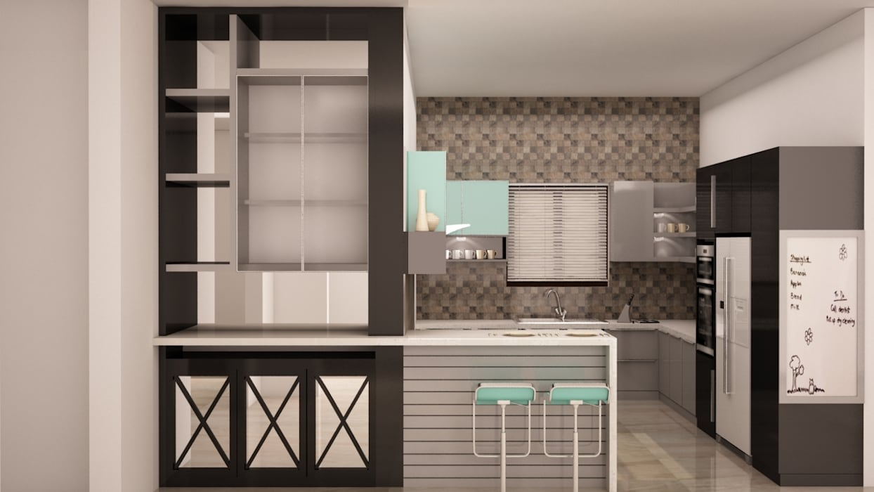 Display unit and breakfast table:  Kitchen by NVT Quality Build solution