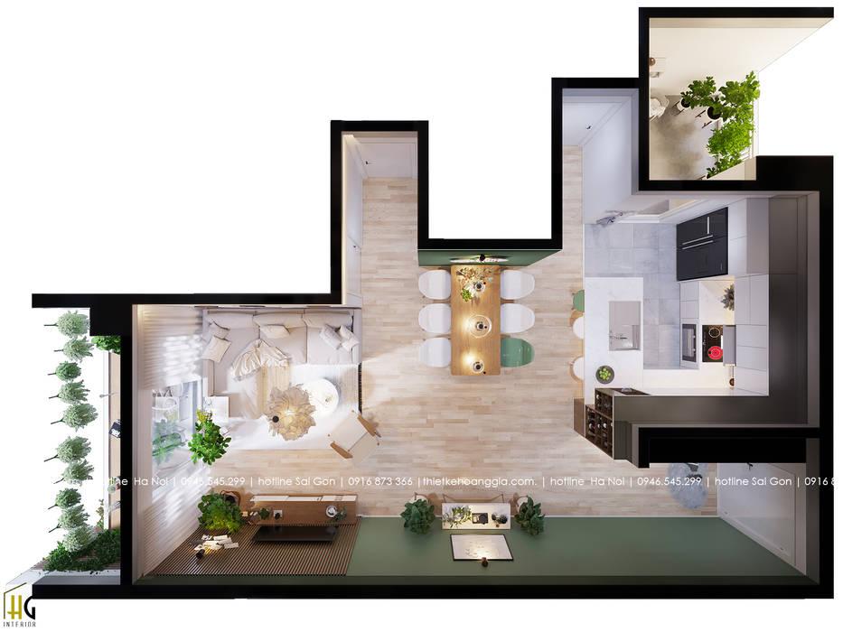Living room by Nội Thất Hoàng Gia, Scandinavian
