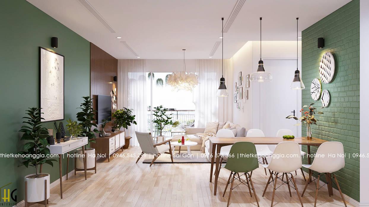 Living room by Nội Thất Hoàng Gia, Asian