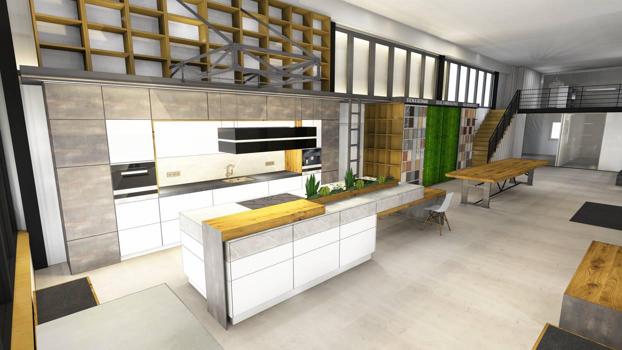 Planung der Küche im Industrie Loft Style :  Küche von Ebbecke GmbH - excellent einrichten