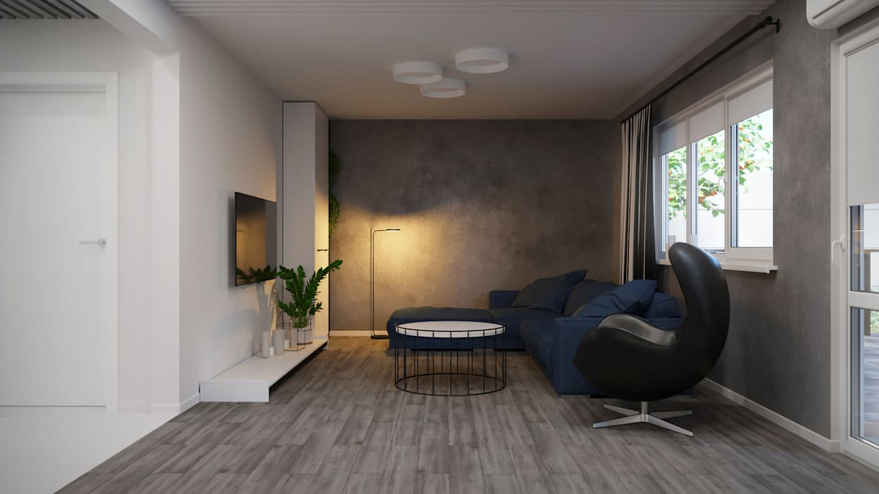 Industrial style living room by Оксана Мухина Industrial