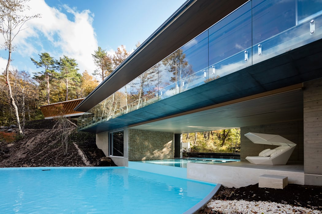 Modern houses by Mアーキテクツ 高級邸宅 豪邸 注文住宅 別荘建築 LUXURY HOUSES   M-architects Modern Concrete