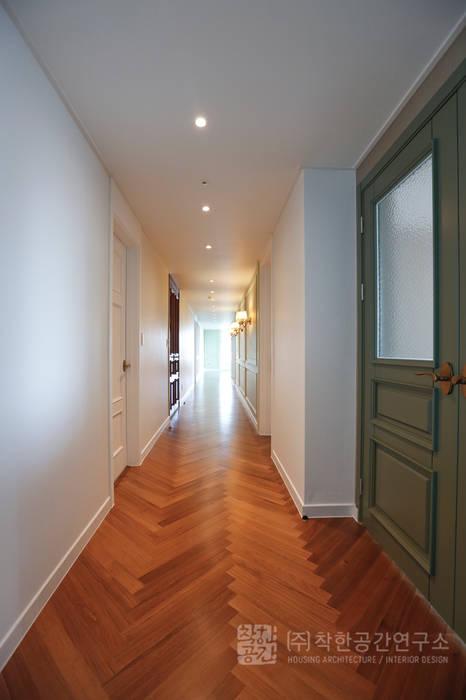 주식회사 착한공간연구소 Koridor & Tangga Gaya Skandinavia Kayu Multicolored